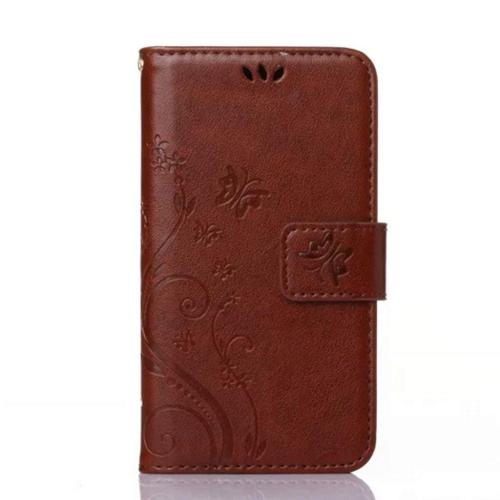 Galaxy s7 Wallet Case, 5.1inch Samsung Galaxy S7 Case, Flower Butterfly Pattern Premium PU Leather Wallet Case with Wrist Stra