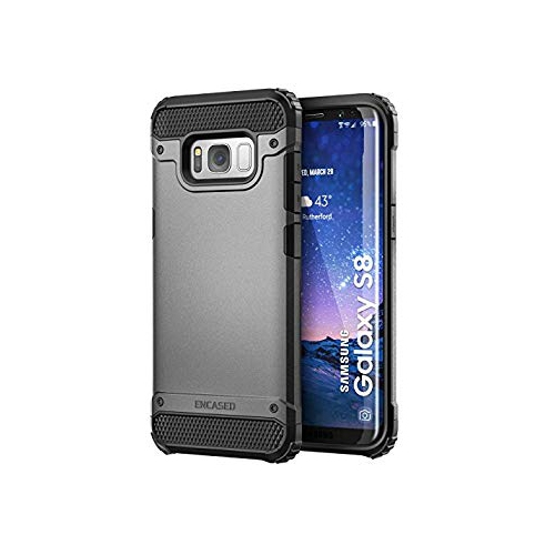Encased Fitted Hard Shell Case for Samsung Galaxy S8 - Gray