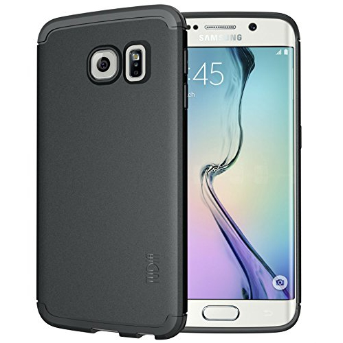 Tudia Fitted Soft Shell Case for Samsung Galaxy S6 Edge - Black