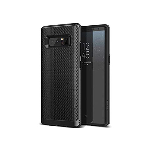 Obliq Dual Layer with Metallic Finish and Shock Absorbing Protection for Galaxy Note 8 (2017) - Midnight Black