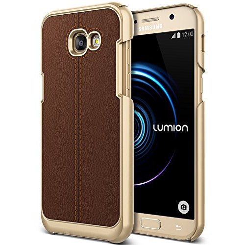 Galaxy A5 Case, (Nova - Milky Brown) (Slim Fit Rugged Protection) Premium PU Leather/PC Hybrid Case (Shock Absorbent Drop Prot
