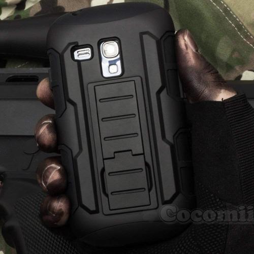 Galaxy S3 Mini Case, Cocomii Robot Armor NEW [Heavy Duty] Premium Belt Clip Holster Kickstand Shockproof Hard Bumper Shell [Mi