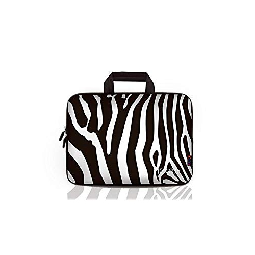 "iColor Zebra 9.7"" 10"" 10.1"" 10.2"" iPad Tablet Laptop Neoprene Carrying Bag Sleeve Briefcase Pouch Handle Bag Tote for iPad Air"