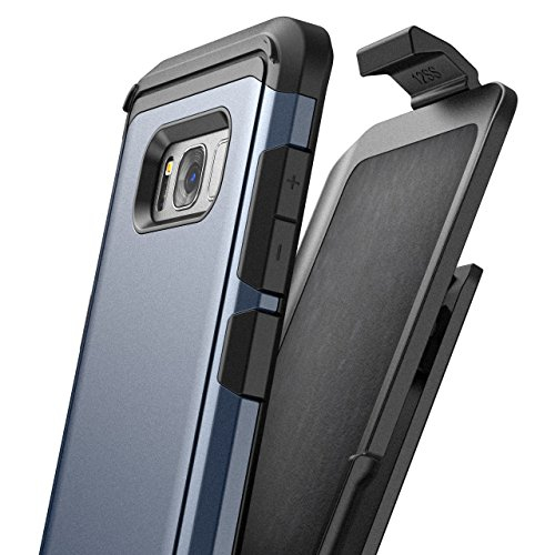 Galaxy S8 Plus Belt Clip Case, Premium Tough Protection w/ Holster - R7 by Encased (Samsung S8+) (Midnight Blue)