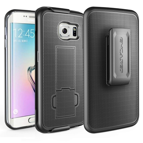 Galaxy S6 EDGE Belt Case, Encased? Ultra-Slim Grip Case & Belt Clip Holster [Built-in Kickstand] **Lifetime Replacement Warran