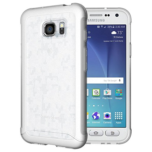 TUDIA Ultra Slim Full-Matte ARCH TPU Bumper Protective Case for Samsung Galaxy S7 Active (Frosted Clear)