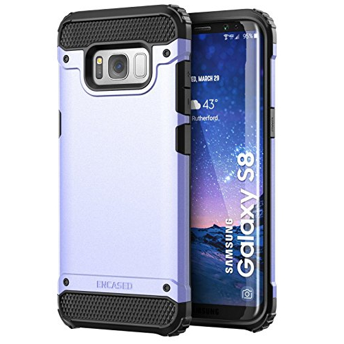 "Galaxy S8 Case, Premium Tough Protection (impact armor) Scorpio R7 by Encased (Samsung Galaxy S8 5.8"")(Periwinkle Purple)"
