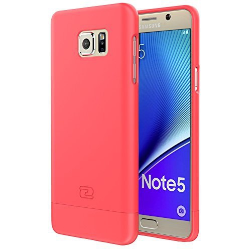 Samsung Galaxy NOTE 5 Case, Encased? Ultra-thin SlimSHIELD Hybrid Shell (**4 Cool Colors Available**) (Coral Pink)
