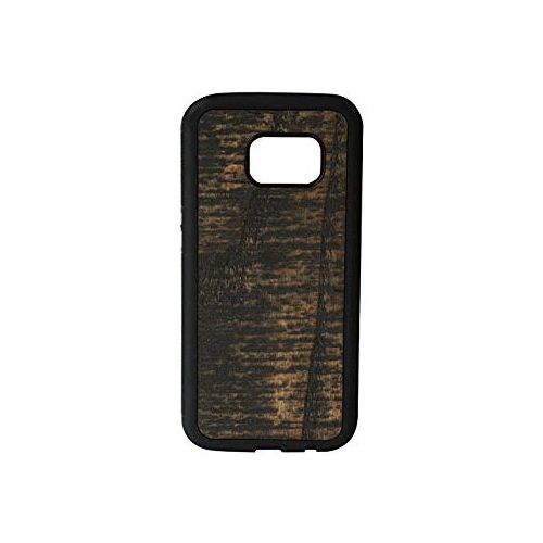 Handscraped Real Wood Case for Samsung Galaxy S7, Charcoal Black Wood