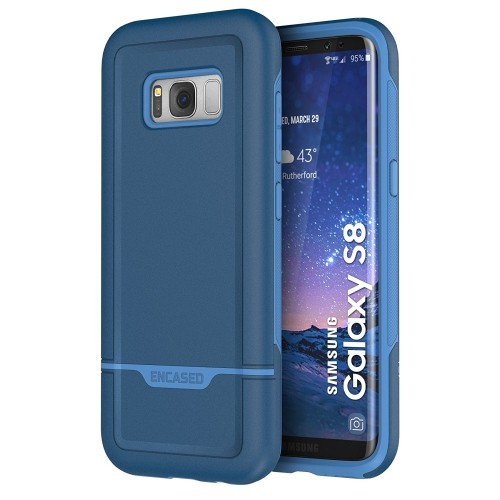 "Galaxy S8 Case Protective, Dual Layer Impact Armor - Rebel Series By Encased (Samsung Galaxy S8 5.8"")(Navy Blue)"