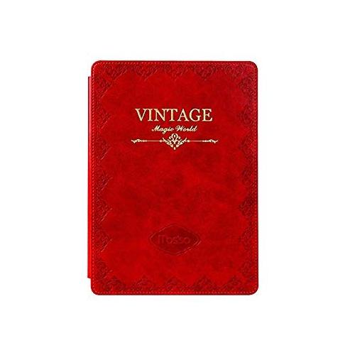 Mosiso iPad Mini 4 Case, Classic Retro Book Style Smart Case for New iPad Mini 4 Released on 2015, Red