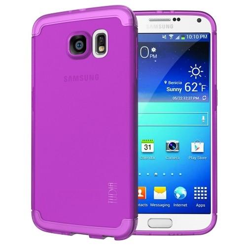 TUDIA Ultra Slim LITE TPU Bumper Protective Case for Samsung Galaxy S6 (Purple)
