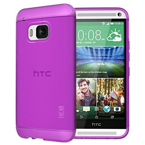 TUDIA Ultra Slim LITE TPU Bumper Protective Case for HTC One M9 (Purple)