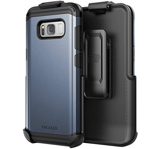 Galaxy S8 Belt Clip Case, Premium Tough Protection w/ Holster - R7 by Encased (Samsung S8) (Midnight Blue)