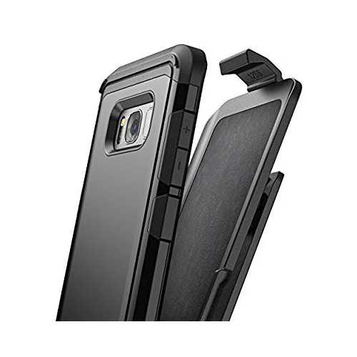 Encased Holster Case for Samsung Galaxy S8 Plus - Smooth Black