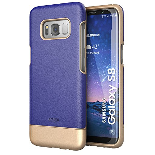Galaxy S8 Premium Vegan Leather Case - Artura Collection By Encased (Samsung S8) (Cobalt Blue)