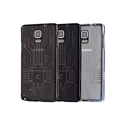 Samsung Galaxy Note 4 Case, Cruzerlite Bugdroid Circuit Bundles of 3 TPU Cases Compatible for Samsung Galaxy Note 4 (All versi