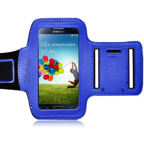 Ionic ACTIVE Sport Armband Case for Samsung Galaxy SIV S IV S4 S4 i9500 (AT&T, T-Mobile, Sprint, Verizon)(Blue)