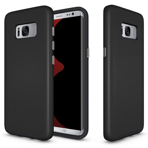 Galaxy S8 Case, UCMDA [Textured Grip] Hybrid Shockproof TPU Gel and Hard Back Fusion Cover, High Impact Resistant Rugged Armor