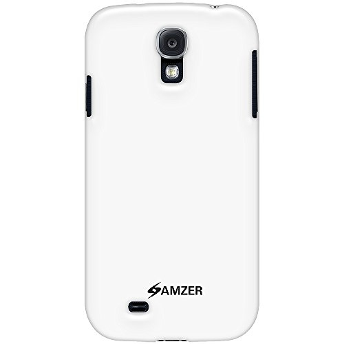 Amzer Soft Gel TPU Gloss Skin Fit Case Cover for Samsung Galaxy S4 GT-I9500 1-Pack Retail Packaging, White (AMZ95584)