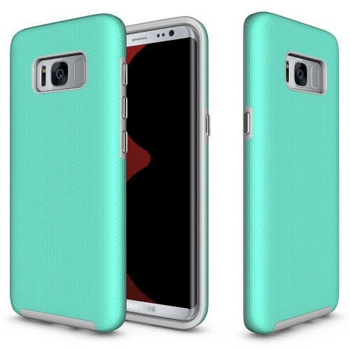 Galaxy S8 Case, UCMDA Hybrid Shockproof TPU Gel and Hard Back Fusion Cover, Ultimate Dropproof / Rugged Armor Protective Bumpe