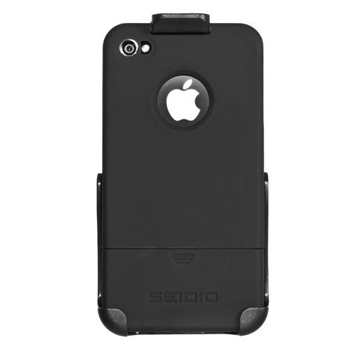Seidio BD2-HRSIPH4-BK Surface Reveal Case and Holster Combo for Apple iPhone 4/4S, Combo Pack (Black)