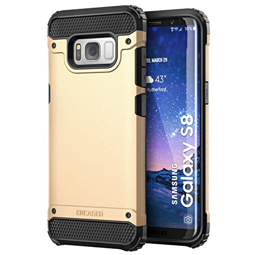 """Galaxy S8 Case, Premium Tough Protection (impact armor) Scorpio R7 by Encased (Samsung Galaxy S8 5.8"""")(Champagne Gold)"""