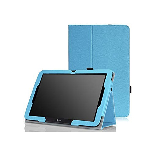 MoKo LG G Pad 10.1 V700 Case - Slim Folding Cover Case for LG G Pad 10.1 inch Android Tablet, Light BLUE