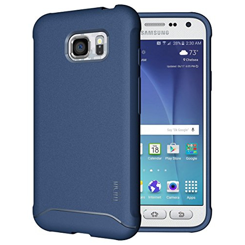 TUDIA Ultra Slim Full-Matte ARCH TPU Bumper Protective Case for Samsung Galaxy S7 Active (Blue)
