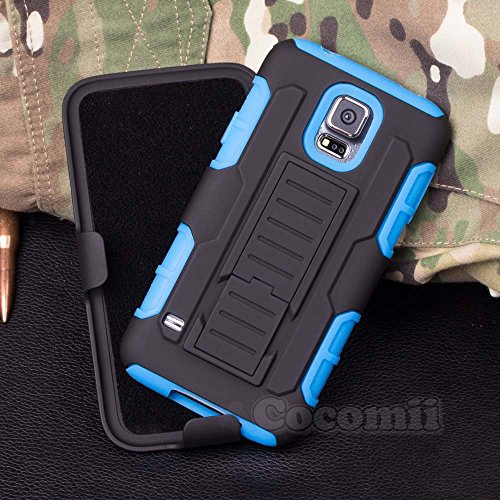 Galaxy S5 Case, Cocomii Robot Armor NEW [Heavy Duty] Premium Belt Clip Holster Kickstand Shockproof Hard Bumper Shell [Militar