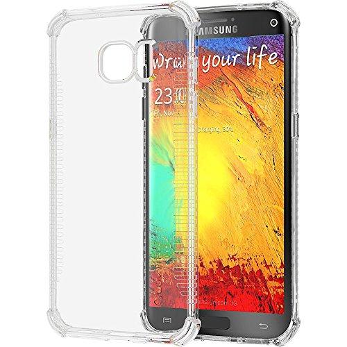 Galaxy S7 Edge Case, LUVVITT [Clear Grip] Soft Slim Flexible TPU Back Cover Transparent Rubber Case for Samsung Galaxy S7 Edge