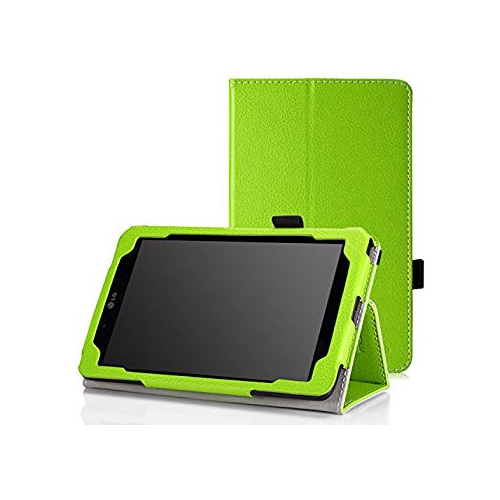 "MoKo LG G Pad V400 7.0 Case - Slim Folding Cover Case for LG G Pad V400 7"" inch Android Tablet, GREEN (With Smart Cover Auto W"