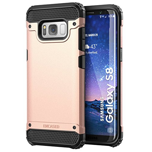 "Galaxy S8 Case, Premium Tough Protection (impact armor) Scorpio R7 by Encased (Samsung Galaxy S8 5.8"")(Rose Gold)"
