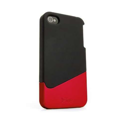 iFrogz Ascend Case for iPhone 4, Retail Packaging, 1-Pack, Black/Red