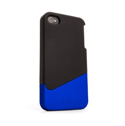 iFrogz Ascend Case for iPhone 4 Retail Packaging, 1-Pack, Black/Blue