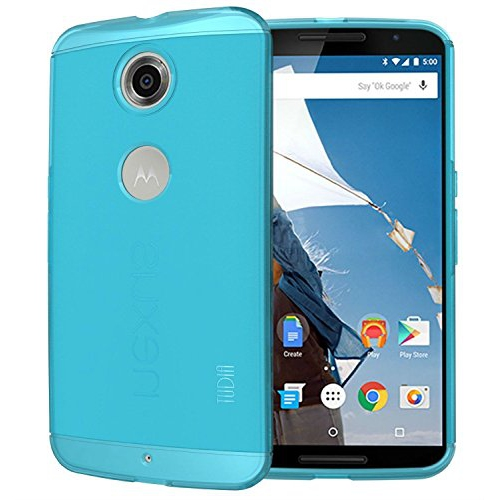 TUDIA Ultra Slim LITE TPU Bumper Protective Case for Google Nexus 6 (Teal)