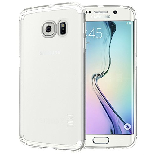 Tudia Fitted Soft Shell Case for Samsung Galaxy S6 Edge - Clear