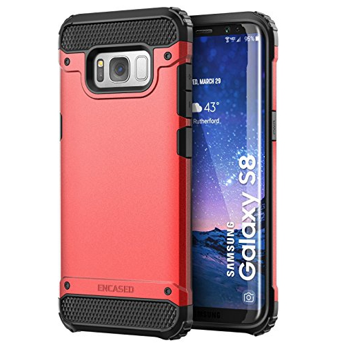 "Galaxy S8 Case, Premium Tough Protection (impact armor) Scorpio R7 by Encased (Samsung Galaxy S8 5.8"")(Scarlet Red)"