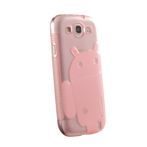 Galaxy S3 Case, Cruzerlite Androidified A2 TPU Case Compatible for Samsung Galaxy S3 - Transluscent Pink