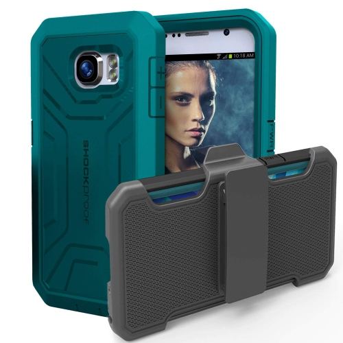 Original PANTERA? Case & Belt Clip for Samsung Galaxy S6 - Teal/Green (By Encased)