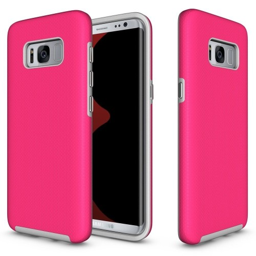 Galaxy S8 Plus Case, UCMDA Hybrid Shockproof TPU Gel and Hard Back Fusion Cover, Ultimate Dropproof / Rugged Armor Protective