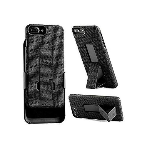 Iphone 7 Plus Holster Wizgear Shell Holster Combo Case For Apple Iphone 7 Plus With Kick Stand And Belt Clip Black Iphone Best Buy Canada