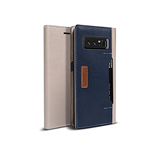 Obliq K3 Wallet Galaxy Note 8 Case with Three Card Slot and Foldable Leather Flip Cover for Samsung Galaxy Note 8 (Mud Gray/Na