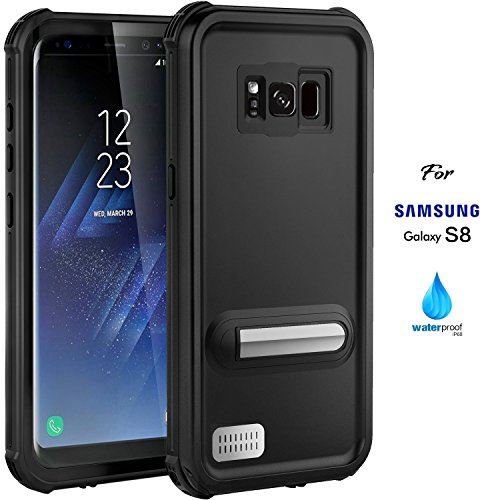 Samsung Galaxy S8 Waterproof Case, 2017 Version IP68 Case by ASAKUKI, Certified Case, Full Body Protective, Shockproof, Scratc