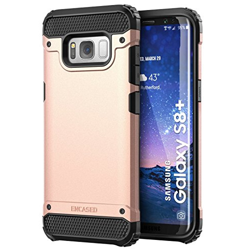 "Galaxy S8 Plus (6.2"") Case, Premium Tough Protection (impact armor) Scorpio R7 by Encased (Samsung Galaxy S8+ 6.2"") (Rose Gold"