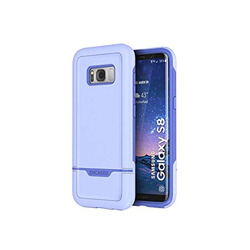 Galaxy S8 Case, Protective Dual Layer Impact Armor - Rebel Series By Encased (Samsung S8) (Periwinkle Purple)