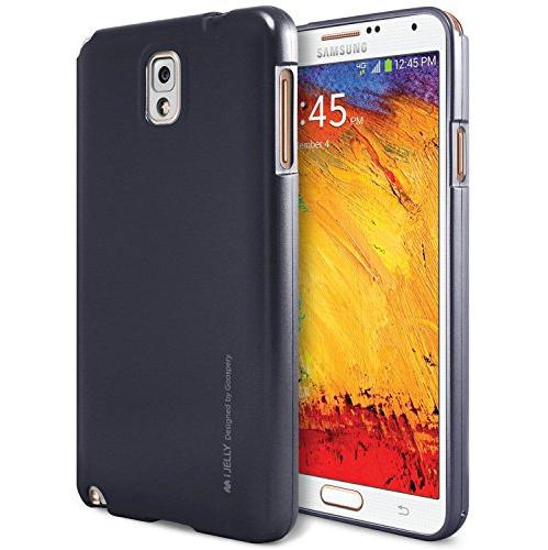 Galaxy Note 3 Case, [Ultra Slim Fit] Goospery i-Jelly Case [Metallic Finish] Premium TPU Case Cover