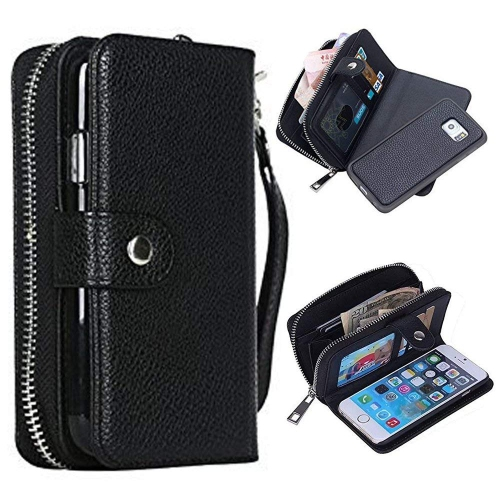 Zipper Wallet Case for Samsung Galaxy S7 SM-G930F,Sunroyal Multi-purpose Luxury PU Leather Cover Purse Bag Flip Folio Magnetic