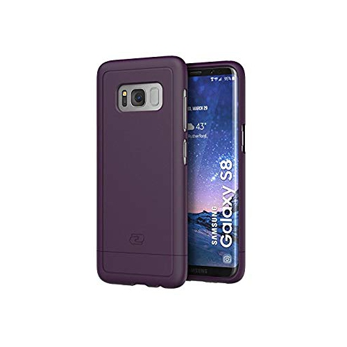 Galaxy S8 Slim Case, Smooth-touch SlimShield Armor by Encased (Samsung Galaxy S8) (Merlot Purple)
