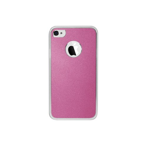 Cellet CCIPH43PK Slim Fit Case with Aluminum Plating for Apple iPhone 4 and 4S-Metallic Pink